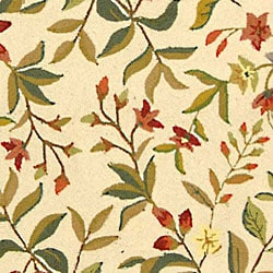 Safavieh Hand-hooked Garden Ivory Wool Rug (7'9 x 9'9) - Thumbnail 1