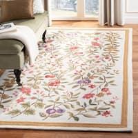 "Safavieh Hand-hooked Garden Ivory Wool Rug - 7'9"" x 9'9"""
