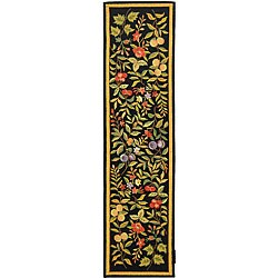 Safavieh Hand-hooked Garden Black Wool Runner (2'6 x 10')