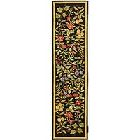 Safavieh Hand-hooked Garden Black Wool Runner Rug - 2'6 x 12'