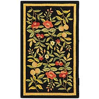 Safavieh Country Hand-Hooked Garden Black Wool Rug - 2'9 x 4'9