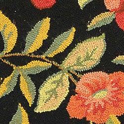... Safavieh Hand-hooked Garden Black Wool Rug (5u00276 Round) ...
