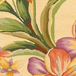 Safavieh Hand-hooked Paradise Ivory Wool Runner (2'6 x 10') - Thumbnail 1