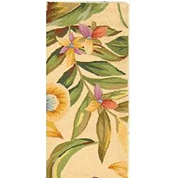 Safavieh Hand-hooked Paradise Ivory Wool Runner (2'6 x 10') - Thumbnail 2