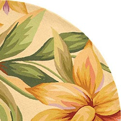 Safavieh Hand-hooked Paradise Ivory Wool Rug (5'6 Round) - Thumbnail 2