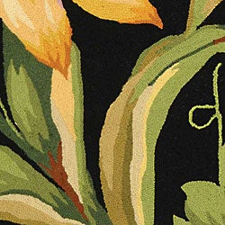 Safavieh Hand-hooked Paradise Black Wool Rug (2'9 x 4'9)