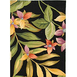 Safavieh Hand-hooked Paradise Black Wool Rug (5'3 x 8'3) - Thumbnail 2