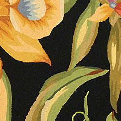 Safavieh Hand-hooked Paradise Black Wool Rug (8'9 x 11'9) - Thumbnail 1