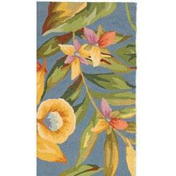 Safavieh Hand-hooked Paradise Blue Wool Runner (2'6 x 12')