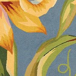 Safavieh Hand-hooked Paradise Blue Wool Rug (5'3 x 8'3) - Thumbnail 1