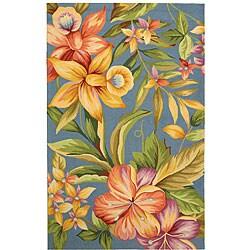 Safavieh Hand-hooked Paradise Blue Wool Rug (8'9 x 11'9)