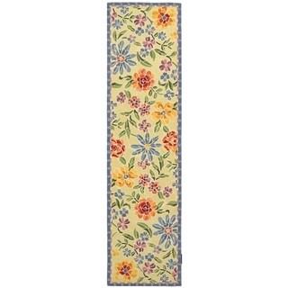 Safavieh Hand-hooked Mosaic Ivory Wool Rug (2'6 x 12')