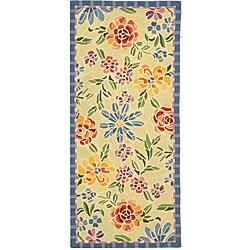 Safavieh Hand-hooked Mosaic Ivory Wool Rug (2'6 x 4')