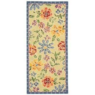 "Safavieh Hand-hooked Mosaic Ivory Wool Rug - 2'6"" x 6'"