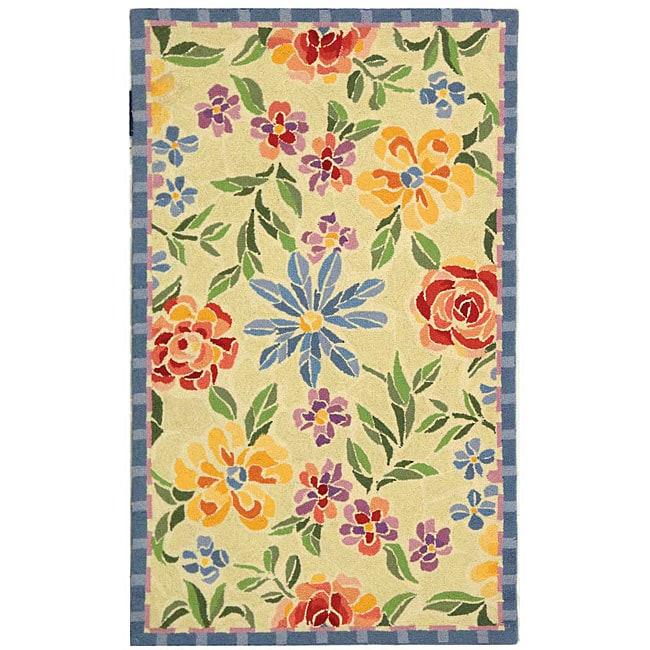 Safavieh Hand-hooked Mosaic Ivory Wool Rug - 2'9 x 4'9