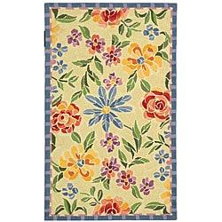 Safavieh Hand-hooked Mosaic Ivory Wool Rug (2'9 x 4'9)