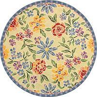 Safavieh Hand-hooked Mosaic Ivory Wool Rug - 4' x 4' Round
