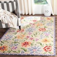 "Safavieh Hand-hooked Mosaic Ivory Wool Rug - 8'-9"" X 11'-9"""