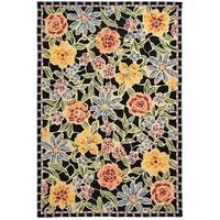 "Safavieh Hand-hooked Mosaic Black Wool Rug - 3'-9"" x 5'-9"""