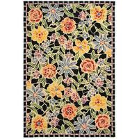 Safavieh Hand-hooked Mosaic Black Wool Rug - 8'9 X 11'9