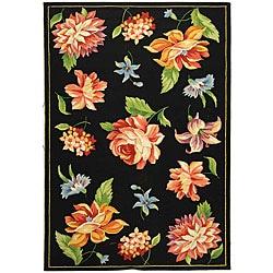 Safavieh Hand-hooked Primivera Black Wool Rug (5'3 x 8'3)