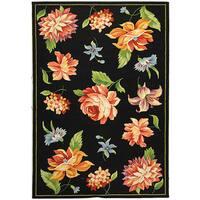 Safavieh Hand-hooked Primivera Black Wool Rug - 5'3 x 8'3