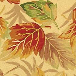 Safavieh Hand-hooked Foliage Ivory Wool Runner (2'6 x 12')