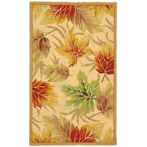Safavieh Hand-hooked Foliage Ivory Wool Rug (2'9 x 4'9)