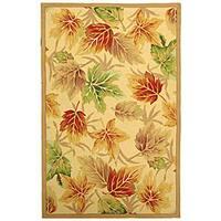 Safavieh Hand-hooked Foliage Ivory Wool Rug - 5'3 x 8'3