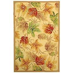 Safavieh Hand-hooked Foliage Ivory Wool Rug (7'9 x 9'9)