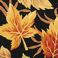 Safavieh Hand-hooked Foliage Black Wool Rug (6' x 9') - Thumbnail 1