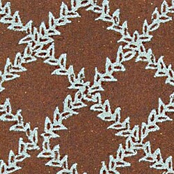Safavieh Hand-hooked Trellis Brown/ Turquoise Blue Wool Runner (2'6 x 10') - Thumbnail 1