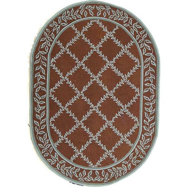 Shop Safavieh Hand-hooked Brown/ Turquoise Blue Wool Rug