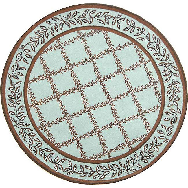 Turquoise And Brown Rug: Shop Safavieh Hand-hooked Trellis Turquoise Blue/ Brown