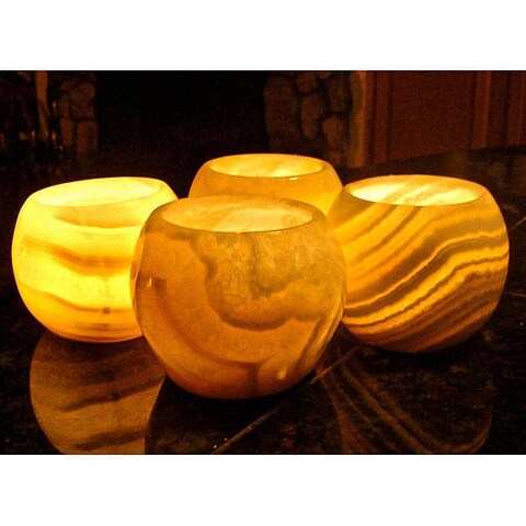 Set of 4 Medglobes Candles , Handmade in Egypt