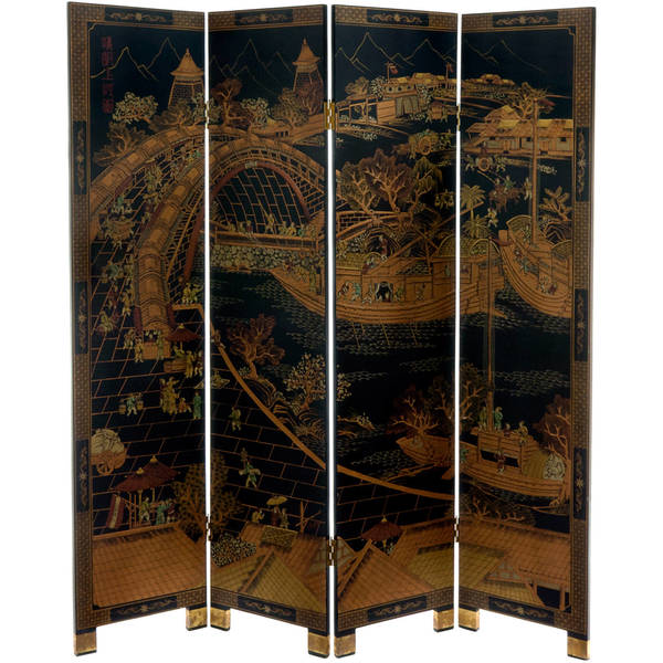 Handmade Wood Ching Ming Festival Screen (China)