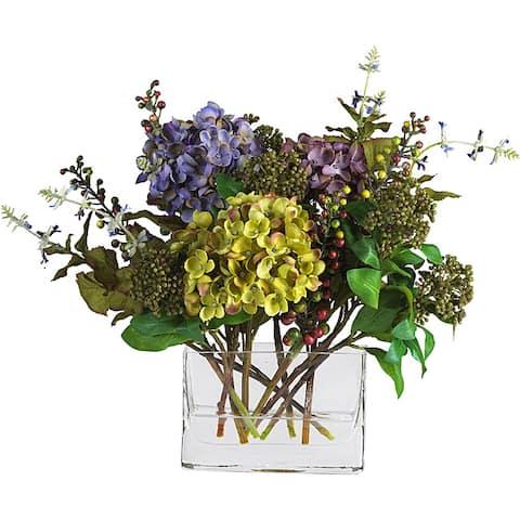 Mixed Silk Hydrangea Arrangement - Multi