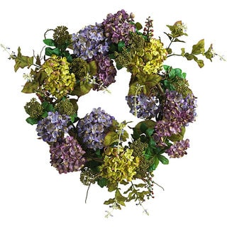 Mixed Silk Hydrangea Wreath