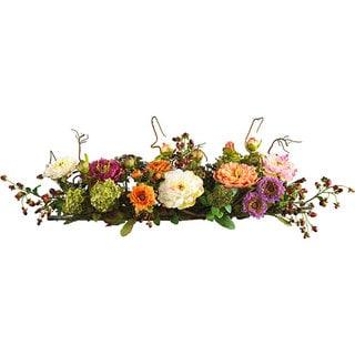 Peony Silk Flower Centerpiece Arrangement