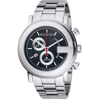 Gucci 101 G Men's Round Steel Chronograph Watch