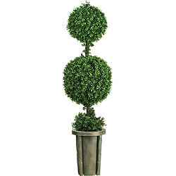 Double Ball Indoor/ Outdoor Topiary with Vase