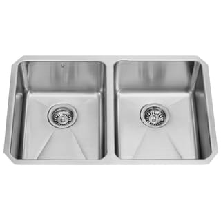 VIGO 29-inch Undermount Stainless Steel 16 Gauge Double Bowl Kitchen Sink