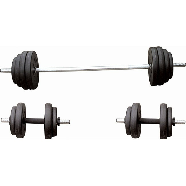 Sunny Health Fitness 100-pound Vinyl Weight Set - 11767059 - Overstock.com Shopping - The Best ...