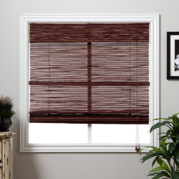 Arlo Blinds Rangoon Bamboo Roman Shade with 98 Inch Height