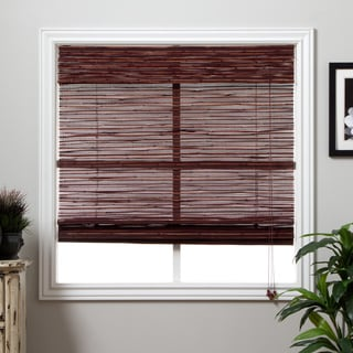 Rangoon Bamboo 98-inch Long Roman Shade