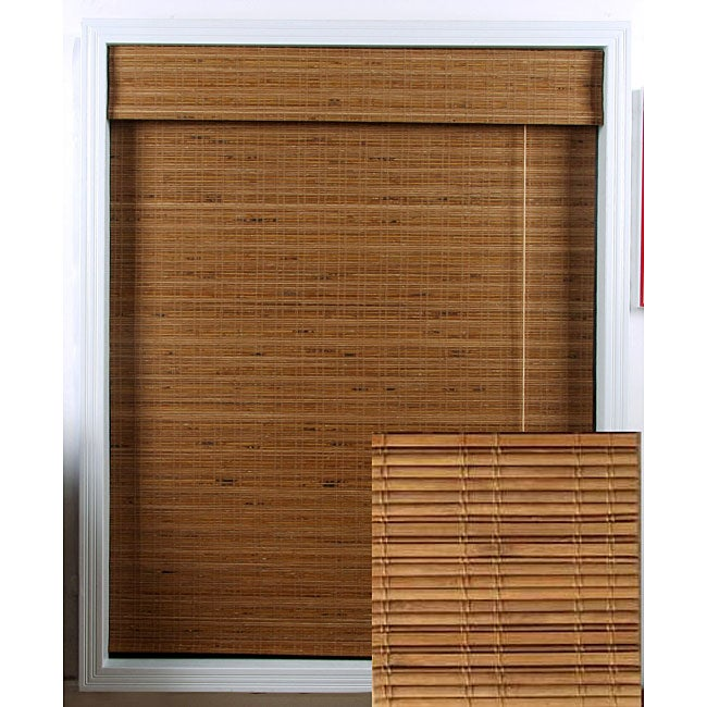 Arlo Blinds Tuscan Bamboo Roman Shade (34 in. x 74 in.)