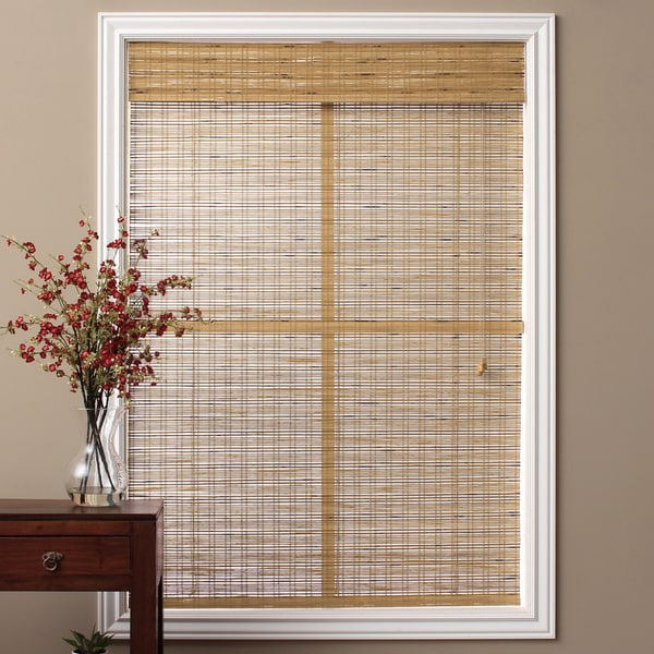 Arlo Blinds Tuscan Brown Bamboo 98-inch Roman Shade