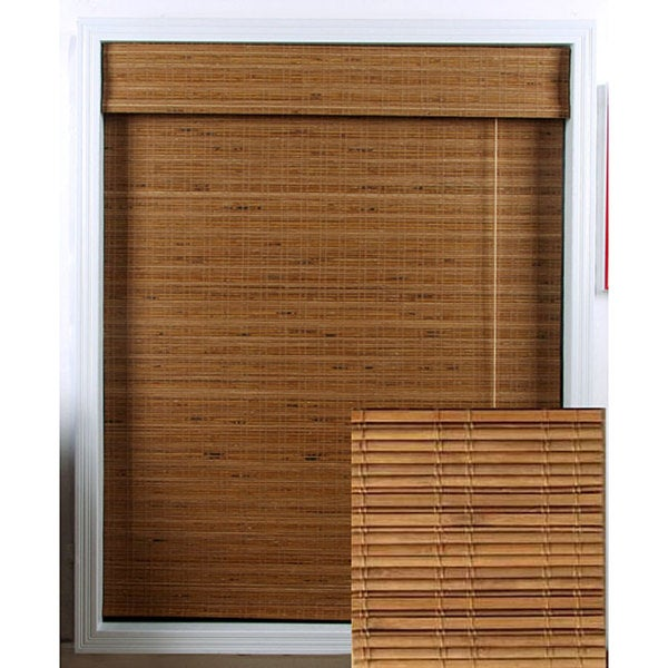 Arlo Blinds Tuscan Bamboo Roman Shade (74 in. x 98 in.)