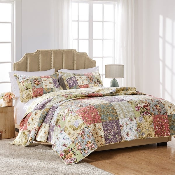Greenland Home Fashions Blooming Prairie 3-Piece Quilt Set. Opens flyout.