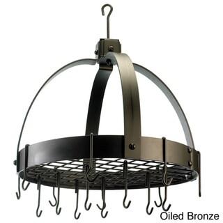 Domed Hanging 16-hook Grid Pot Rack